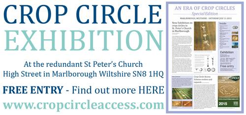 Crop Circle Exhibition at redundant St Peter's Church, High Street Marlborough, Wiltshire SN8 1HQ
