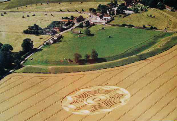 Avebury aerial view poster